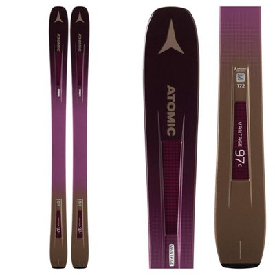 Atomic Women's Vantage 97 C Skis Berry/Copper (Ski Only) 2019