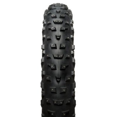 45NRTH Wrathchild Tire - 26 x 4.6, Tubeless, Folding, Black, 120tpi, 224 XL Concave Carbide Aluminum Studs