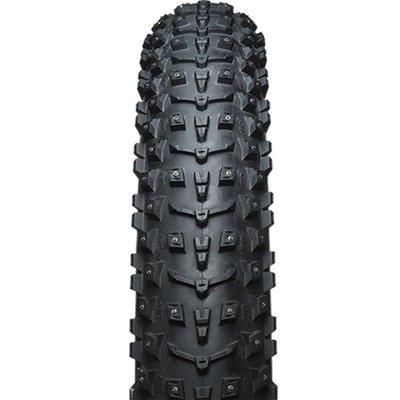 45NRTH Dillinger 5 Studded Fat Bike Tire 26 x 4.6, 258 Concave Studs, Tubeless Ready Folding, 120tpi, Black
