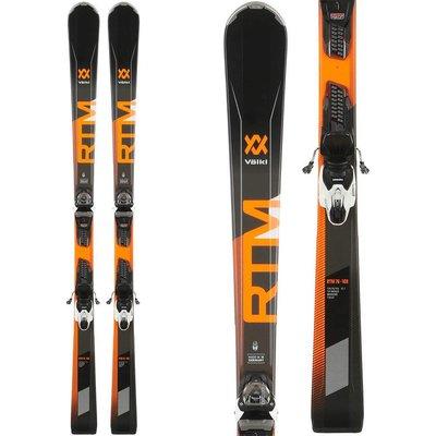 Volkl RTM 76 Blk/Orange Skis With VMotion 10 GW Blk/Wht Bindings 2019