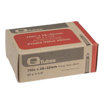 Q-Tubes 700c x 28-32mm 48mm Presta Valve Tube 129g