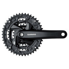 Shimano FRONT CHAINWHEEL, FC-M371-L, FOR REAR 9-SPEED, 170MM, 48X36