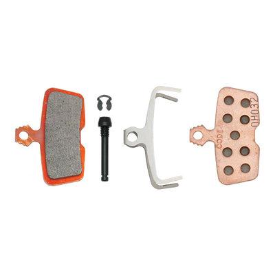 SRAM/Avid Code, Code RSC, Code R, Guide RE Metallic Disc Brake Pad, Steel Back, Pair