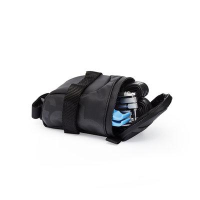 Fabric Contain Saddle Bag Black Large