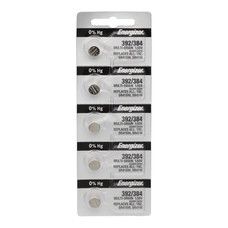 Energizer 392 / 384 Silver Oxide Multi-Drain Battery 1.55v: Card of 5