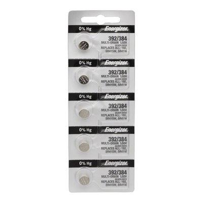 Energizer 392 / 384 Silver Oxide Multi-Drain Battery 1.55v: Card of 5