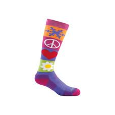 Darn Tough Kids' Peace Love Snow Over-the-Calf Cushion Socks