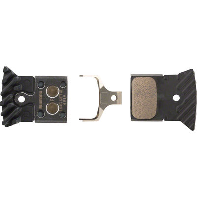 Shimano L04C Metal Disc Brake Pads with Fin for Flat Mount BR-RS805, BR- RS505 Road Disc Calipers