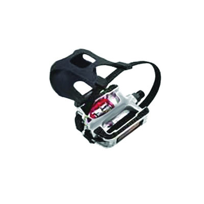 Summit Alloy Pedal w/Clips & Straps 9/16''