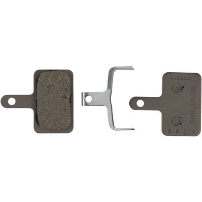 Shimano B01S Resin Disc Brake Pad and Spring, 4th version of B01S pad, fits many Deore, Alivio and Acera Calipers