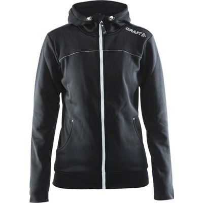 Craft Women's Leisure Full Zip Jacket: Black LG