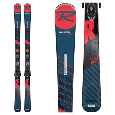 Rossignol React R6 Compact Skis with Xpress 11 GW B83 Blk/Red Bindings 2020