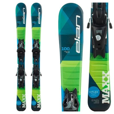 Elan Kids' Maxx QS Skis w/ EL 7.5 GW Blk/Sil Bindings 2020