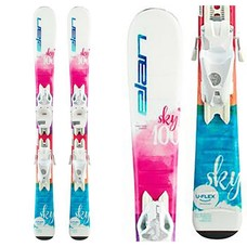 Elan Kids' Sky QS Skis w/EL 7.5 GW B78 Wht Bindings 2020