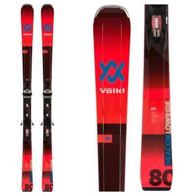 Volkl Deacon 80 Skis w/LowRide XL 13 FR GW Blk/FloRed Bindings 2020