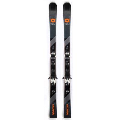 Volkl Deacon XT Skis w/VMotion 10 GW Blk/Wht Bindings 2020