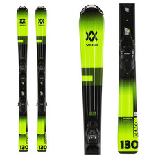 Volkl Jr Deacon Skis w/7.0 VMotion Jr R Blk/Anth Bindings 2020