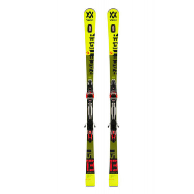 Volkl Racetiger SL Skis w/ RMotion2 16 GW Blk/Red Binding 2020