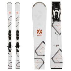 Volkl Women's Flair 76 Skis w/VMotion 10 GW Lady Gld/Blk/Gld  Bindings 2020