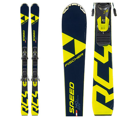 Fischer Jr RC4 Speed Skis (ski only) w/Raceplate Jr 2020