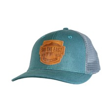 Ski The East Born From Ice Canvas Trucker Hat
