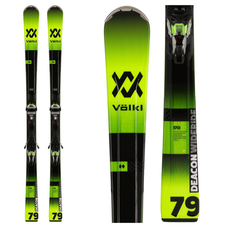 Volkl Deacon 79 Skis with IPT WideRide XL 12 Blk/Grn Bindings 2020