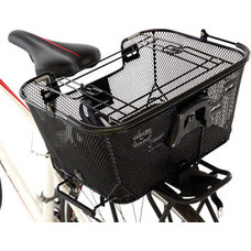 Axiom Pet Basket with Rack and Handlebar Mounts: Black