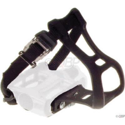 Dimension Toe Clip and Strap Set LG/XL Black