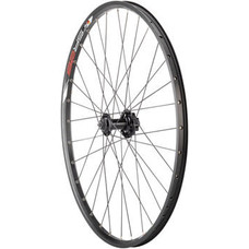 """Quality Wheels Value Double Wall Series Disc Front Wheel - 26"""", QR x 100mm, 6-Bolt, Black, Clincher"""