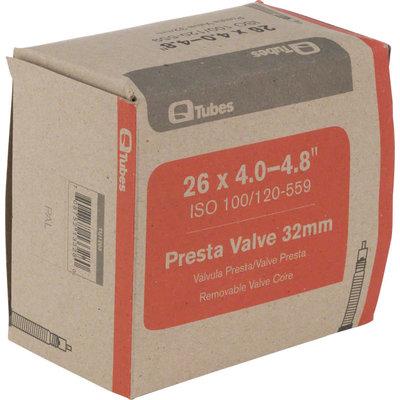 """Q-Tubes 26 x 4.0-4.8"""" Fat Bike Tube: 32mm Presta Valve"""