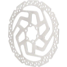 Shimano Tourney SM-RT26-M Disc Brake Rotor - 180mm, 6-Bolt, For Resin Pads Only, Silver