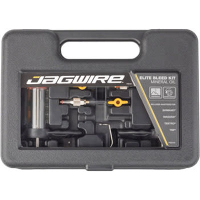 Jagwire Elite Mineral Oil Bleed Kit, includes Shimano Magura Tektro Adapters