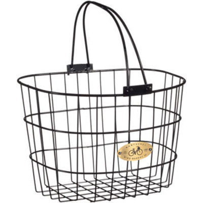 Nantucket Surfside Adult Wire D Handlebar Basket - Black