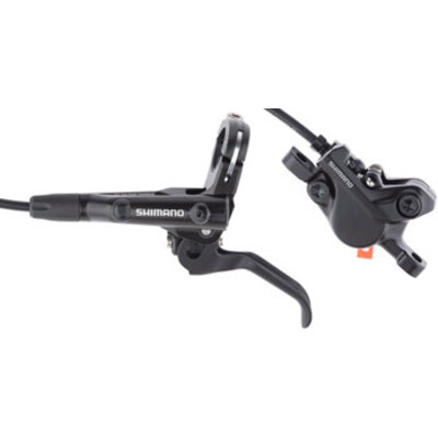 Shimano Deore BL-MT501/BR-MT500 Disc Brake and Lever - Front, Hydraulic, Post Mount, Resin Pads, Black