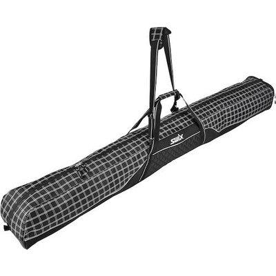 Swix Stuart Single Ski Bag, Black Plaid
