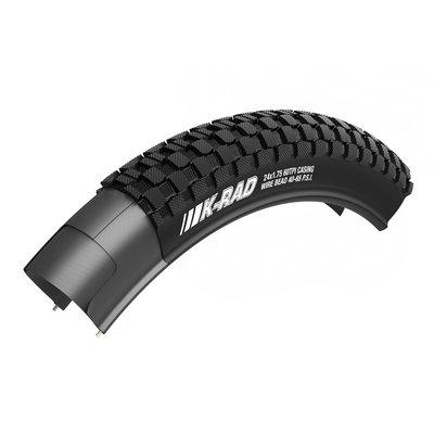 Kenda K-Rad Tire 24  x 1 .95 Clincher Wire Black