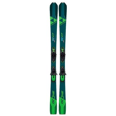Fischer RC One 82 GT Twin Powerrail Skis w/RSW 11 Powerrail Bindings 2021