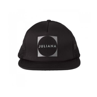 Juliana Logo Trucker Hat Black