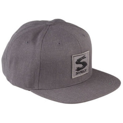Surly Gray Area Snap Back Hat - Dark Heather Gray One Size