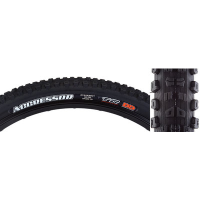 Maxxis Aggressor Tire - 27.5 x 2.5, Tubeless, Folding, Black, Dual, DD, Wide Trail