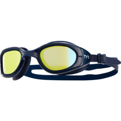 TYR Special Ops 2.0 Polarized Goggle: Navy Frame/Navy Gasket/Gold Lens