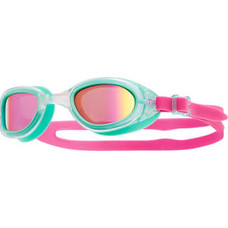 TYR Special Ops 2.0 Polarized Femme Goggle: Clear Frame/Mint Gasket/Pink Lens