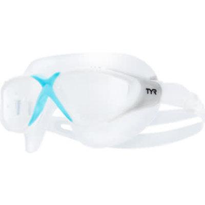 TYR Rogue Swimmask - Clear/Blue, Women's