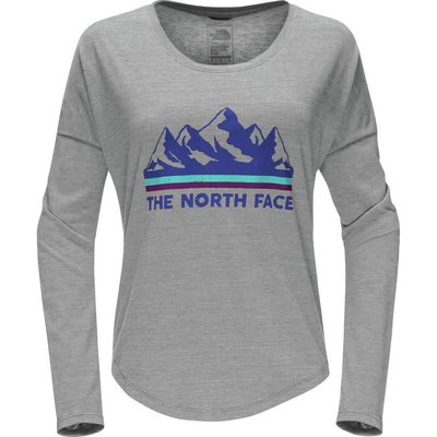 The North Face Women's L/S Mountain View Tri-Blend Tee Shirt 2018