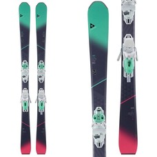 Fischer Women's My Mountain 80 Ski W/My MBS 10 Powerrail Wht/Mint Binding 2018