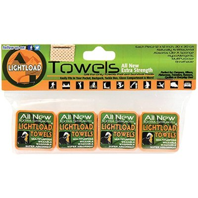 """Lightload Towels Four Pack 12""""x12"""""""