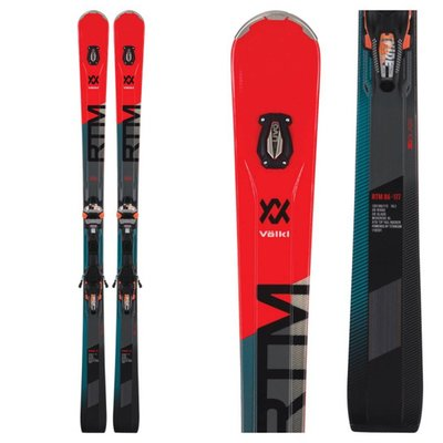 Volkl RTM 86 Skis with IPT WiderideXL 12 FR GW Flo Red Bindings 2019