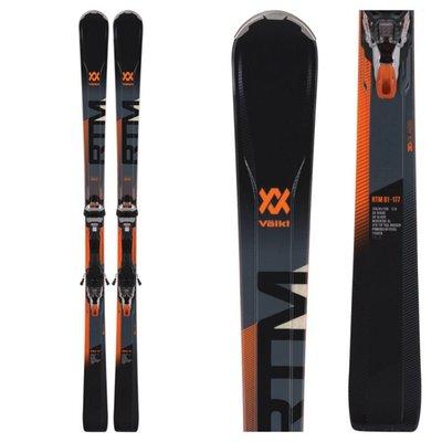 Volkl RTM 81 Skis W/ IPT WR XL 12 TCX GW Orange/Blk/Or Bindings 2019