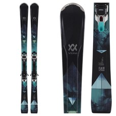 Volkl Women's Flair 81 Skis w/ IPT WR XL 11 TCX GW Ldy Blk /Wht Bindings 2019