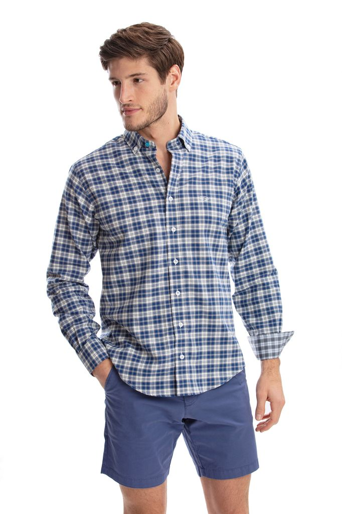 NAVY/GREY MINI PLAID UNTUCKIT